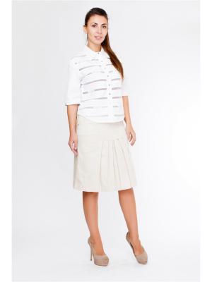 Блуза LAFEI-NIER. Цвет: белый