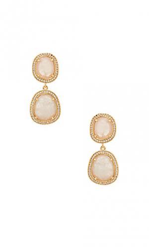 Double drop earrings Melanie Auld. Цвет: металлический золотой