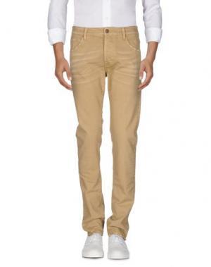 Джинсовые брюки REIGN. Цвет: песочный