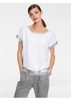 Блузка RICK CARDONA by Heine. Цвет: серый/белый
