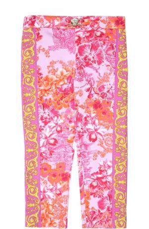 Брюки Young Versace. Цвет: розовый