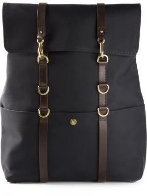 Квадратный рюкзак с кожаной отделкой Mismo. Цвет: синий