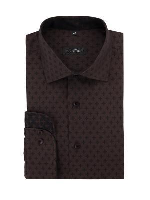 Рубашка BERTHIER. Цвет: темно-коричневый