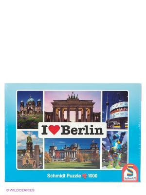Пазл Я люблю Берлин, 1000 эл. Schmidt. Цвет: синий, зеленый