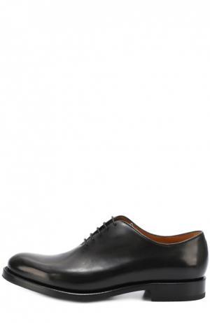 Классические кожаные оксфорды O`Keeffe. Цвет: черный