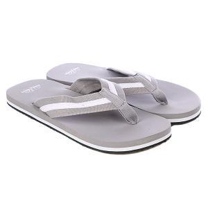 Шлепанцы  Flip Flops Grey/White Urban Classics. Цвет: серый