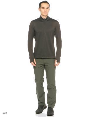 Трикотажные брюки Adidas. Цвет: серо-зеленый