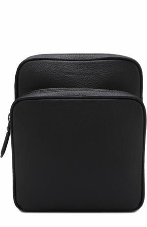 Кожаная сумка-планшет Ermenegildo Zegna. Цвет: темно-синий