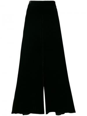 Бархатные брюки клеш Peter Pilotto. Цвет: чёрный