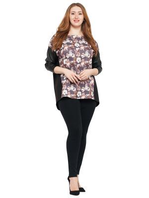 Блузка Lady Di. Цвет: черный, коричневый