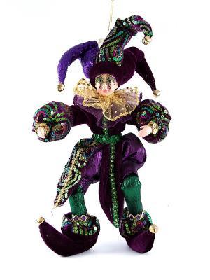 Игрушка новогодняя Шут цвет фиолетовый 41см Русские подарки. Цвет: зеленый, бордовый, фиолетовый