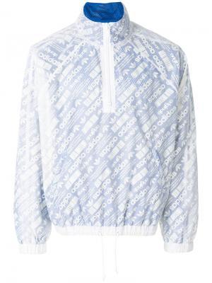 Куртка со сплошным принтом Adidas Originals By Alexander Wang. Цвет: белый