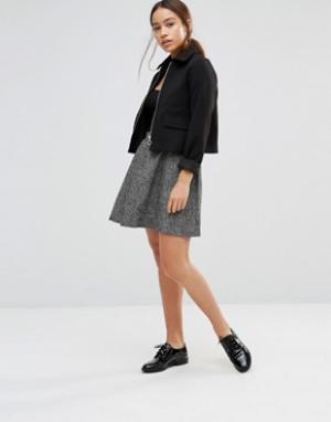 Gestuz Короткая расклешенная юбка Eva. Цвет: черный