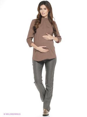 Блузка Beauty mammy. Цвет: коричневый
