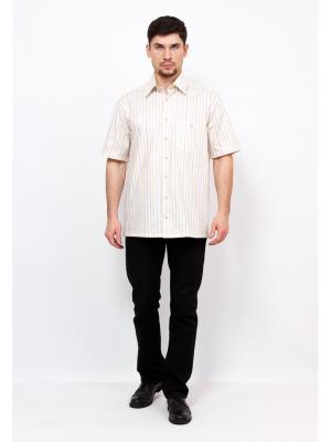Рубашка BERTHIER. Цвет: светло-желтый, белый