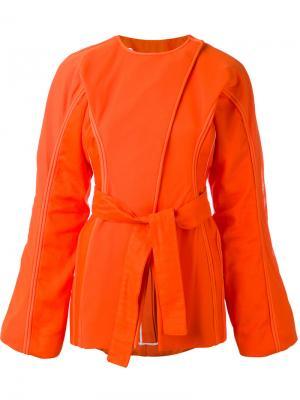 Пиджак с завязками Corded Richard Malone. Цвет: жёлтый и оранжевый