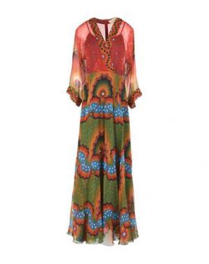 Длинное платье VALENTINO. Цвет: красный