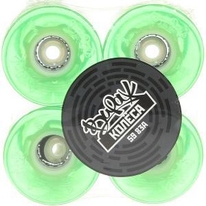 Колеса для скейтборда лонгборда  Mint Led Blue 83A 59 mm Вираж. Цвет: зеленый