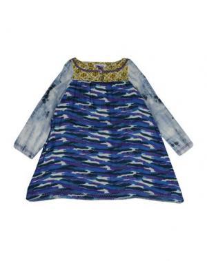 Блузка CUSTO GROWING. Цвет: синий