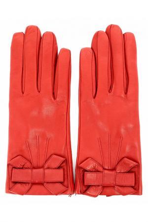 Перчатки SERMONETA. Цвет: красный