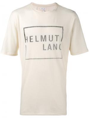 Футболка с принтом логотипа Helmut Lang. Цвет: телесный