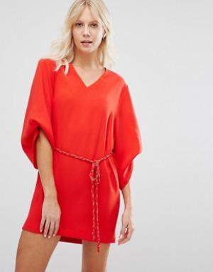 Suncoo Красное платье. Цвет: красный