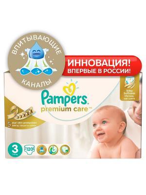 Подгузники Pampers Premium Care, 5-9 кг, 120 шт.. Цвет: белый