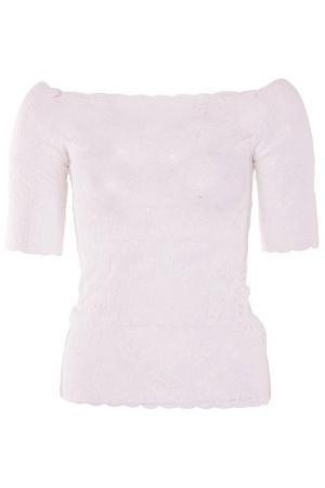 Легкая кружевная блуза D.Exterior. Цвет: белый