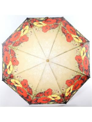 Зонт Magic Rain. Цвет: светло-желтый, красный