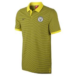 Мужская рубашка-поло Manchester City FC Authentic Grand Slam Nike. Цвет: желтый