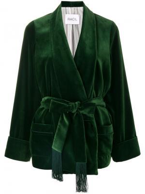 Жакет Derby с запахом Racil. Цвет: зелёный
