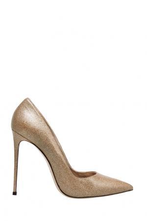 Кожаные туфли Le Silla. Цвет: золотой