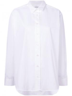 Однотонная рубашка Toteme. Цвет: белый