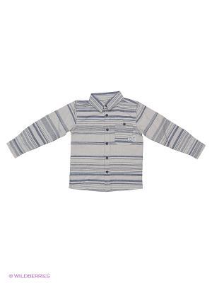 Рубашка NAME IT. Цвет: серый меланж