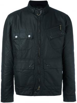 Вощеная куртка Barbour. Цвет: чёрный
