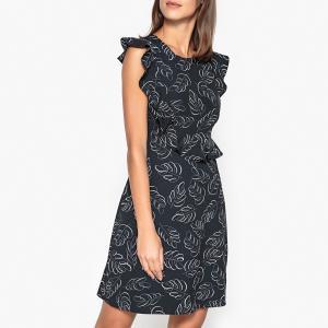 Платье расклешённое PARTYNEXTDOOR ESSENTIEL ANTWERP. Цвет: рисунок темно-синий