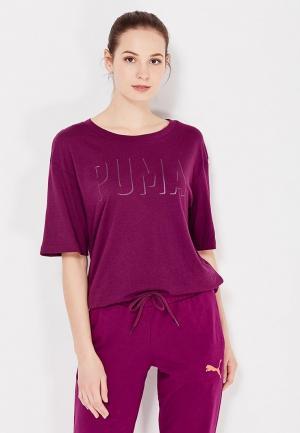 Футболка PUMA. Цвет: фиолетовый