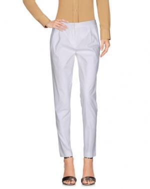 Повседневные брюки ANTONELLI. Цвет: белый