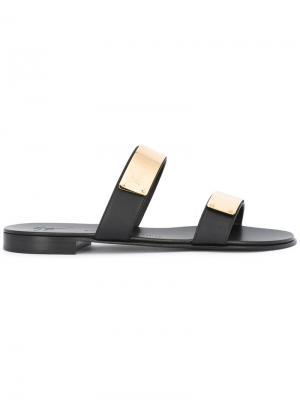 Декорированные сандалии Giuseppe Zanotti Design. Цвет: чёрный