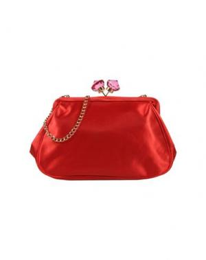 Средняя сумка из текстиля PAPÀ RAZZI. Цвет: красный