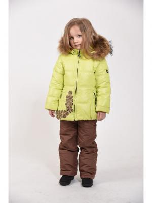 Куртка+полукомбинезон TOPKLAER. Цвет: зеленый