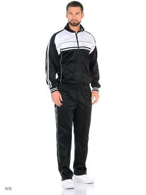 Спортивный костюм Montana. Цвет: черный, белый
