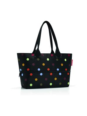 Сумка Shopper E1 dots Reisenthel. Цвет: черный