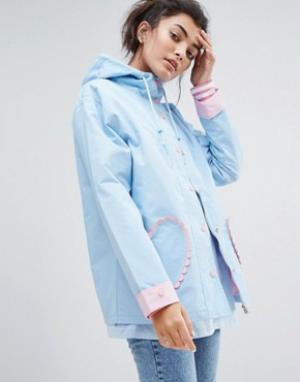 Lazy Oaf Куртка Feeling Blue. Цвет: синий