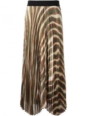 Плиссированная юбка zebra Alice+Olivia. Цвет: многоцветный