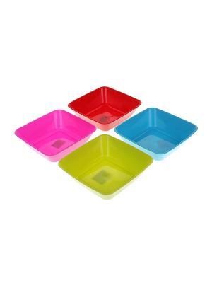 Салатник - 4 шт. Migura. Цвет: розовый, салатовый, голубой, красный