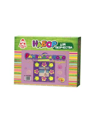 Рамка-шнуровка для фото Цветочки Азбука Тойс. Цвет: зеленый