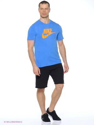 Футболка NIKE TEE-SOLSTICE FUTURA. Цвет: оранжевый, синий