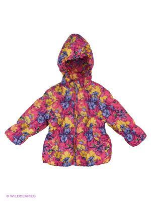 Куртка Hippo Hoppo. Цвет: розовый, желтый, голубой
