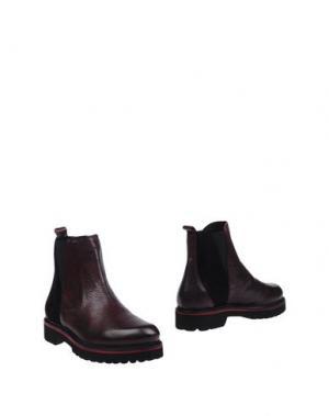 Полусапоги и высокие ботинки KEB. Цвет: красно-коричневый